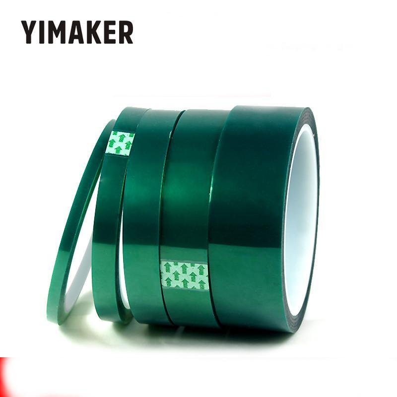 Fitas adesivas resistentes ao calor da fita da poliimida de yimaker 1psc 33 m verde 5-30mm