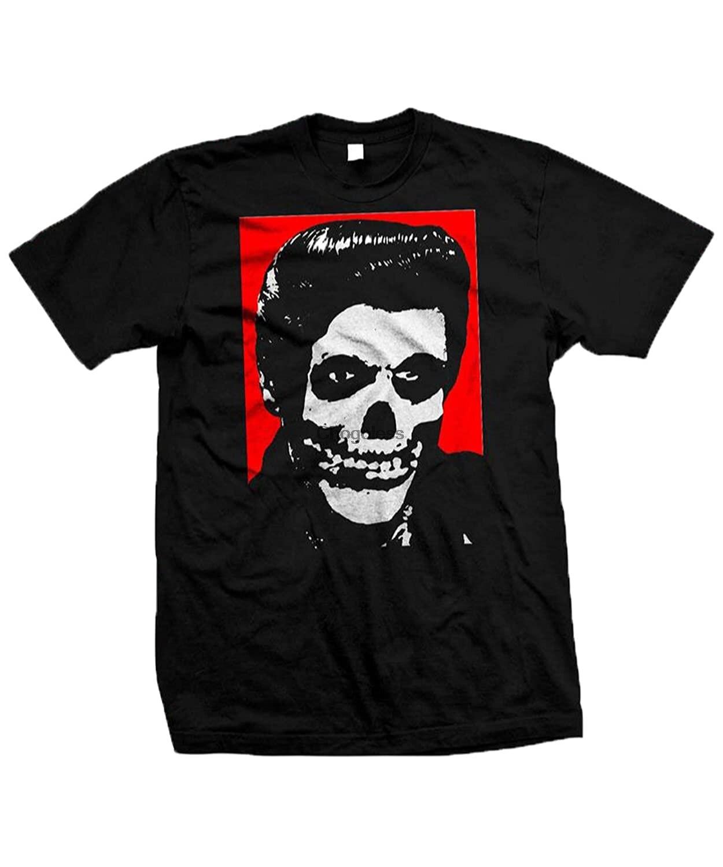 Horror Movie Tee Misfits Crimson Ghost Elvis Classic Cool Graphic T-Shirt for Men Women