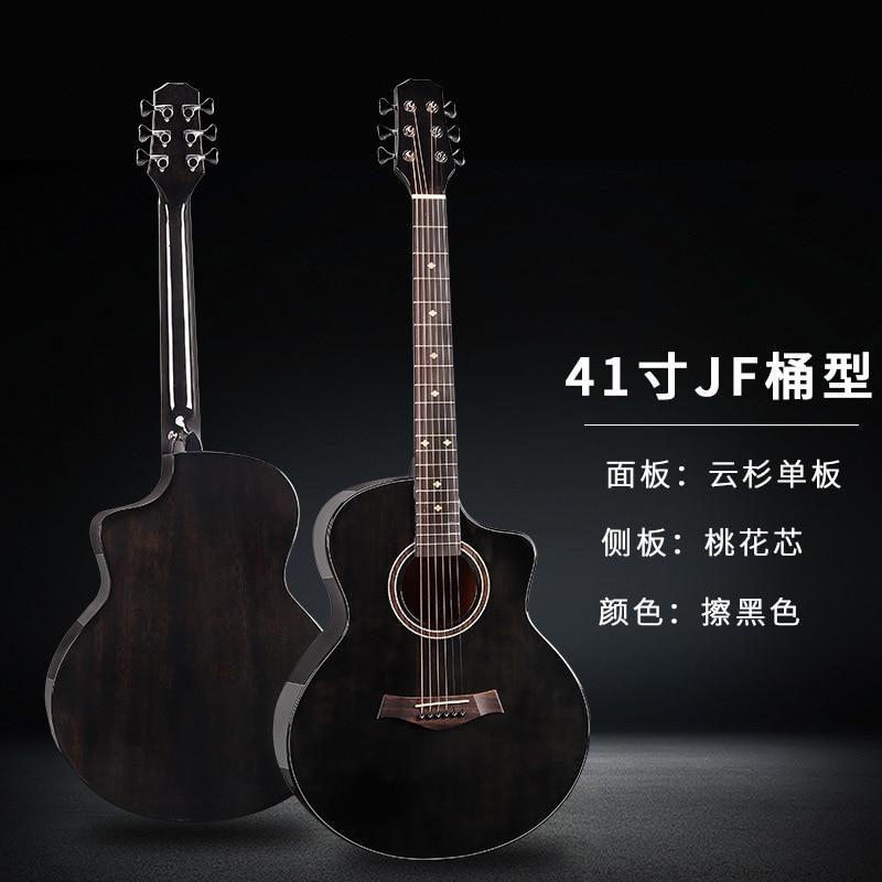 Hawaii Guitars Strings Acoustic Solid Mahogany Fingerboard Rosewood Guitar 41 Inch Violao Acustico Musical Instruments EH50G enlarge