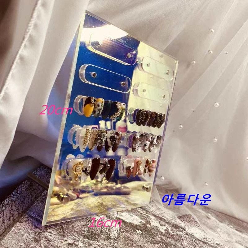 Wholesale Transparent Nail Acrylic Dust-Proof Display Stand Board Sample Nail Frame Display Acrylic Magnetic Board Display Nails