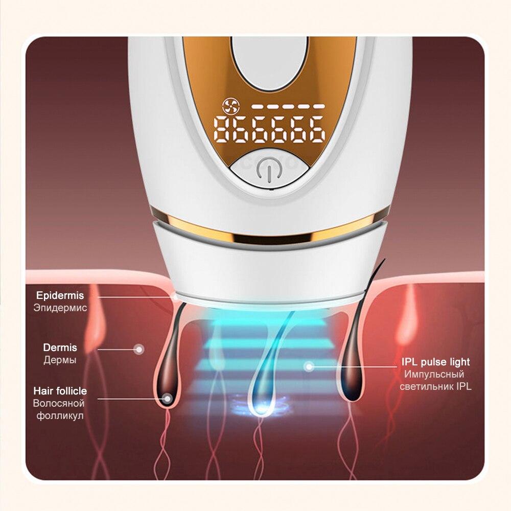 999000 Flashes  Painless IPL Epilator LCD Laser Hair Removal Permanent Photoepilation Hair Trimmer Electric Depiladora enlarge