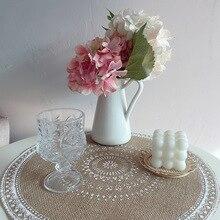 Posavasos de algodón trenzado, alfombrilla para taza de café hecha a mano, cojín para taza de macramé, vajilla antideslizante de estilo bohemio, accesorios de cocina