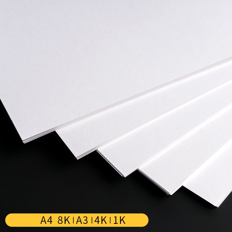 Tarjeta postal de papel Kraft en blanco A3/A4/8 K/4 K/1 K dibujo a mano DIY 180 /250/300/350gsm papel Kraft blanco DIY papel para hacer tarjetas