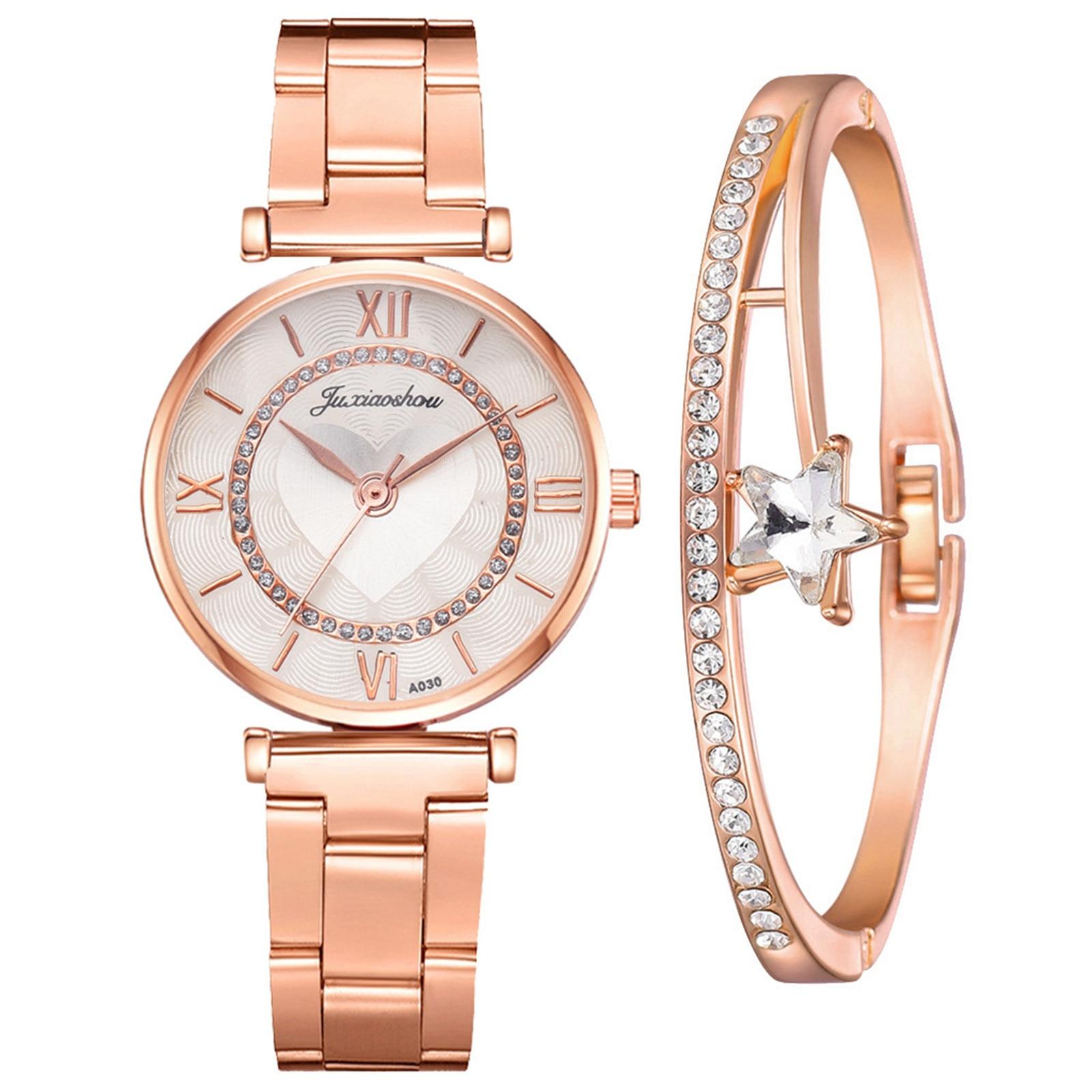 HOT Women's Fashion Luxury Watches Quartz Watch Stainless Steel Dial Casual Bracelet Wristwatches La