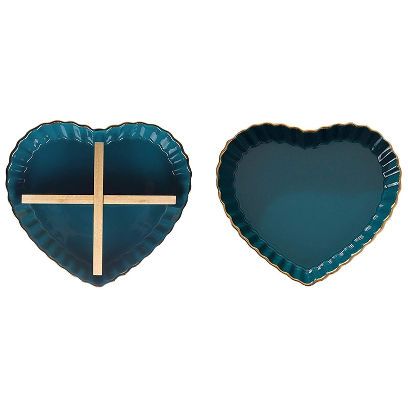 السيراميك القلب وعاء طبق تخدم لوحة المكسرات الحلويات طبق طبق الطعام المجفف وجبات خفيفة الحلوى