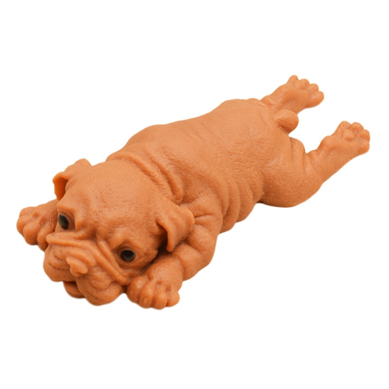 Dog Antistress Squeeze Toy Soft Cute Realistic Silicone Bulldog Soft Animal Stress Relieve Kids Adult Toy Animal dog Pig Toy enlarge