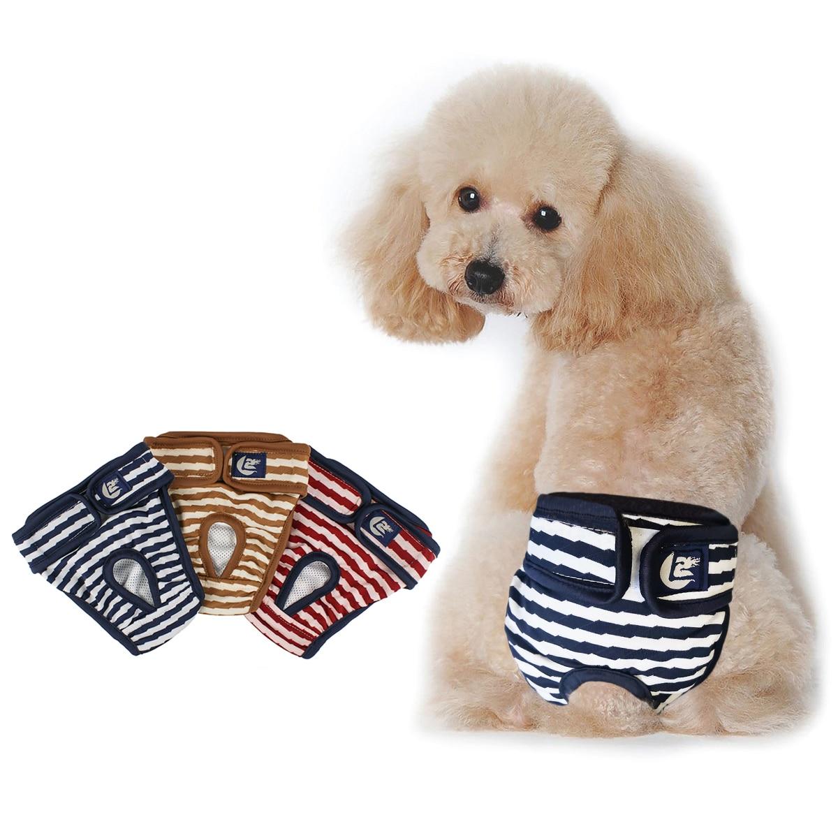 Nueva mascota pantalones fisiológicos pañal sanitario lavable mujer perro pantalones cortos bragas menstruación Ropa interior Calzoncillos Mono para perro D40