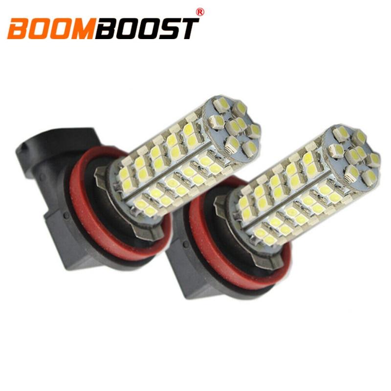 ¡Superventas! 2 piezas 68SMD LED 3528 9005 1210 luces de coche bombilla de luz de conducción de alta potencia impermeable