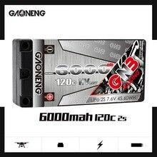 Gaoneng GNB 6000mAh 2S 7.6V HV 120C/240C Hardcase SHORTY LiPo batterie pour RC HPI HSP 1/8 1/10 Buggy RC voiture camion Axial Scx10