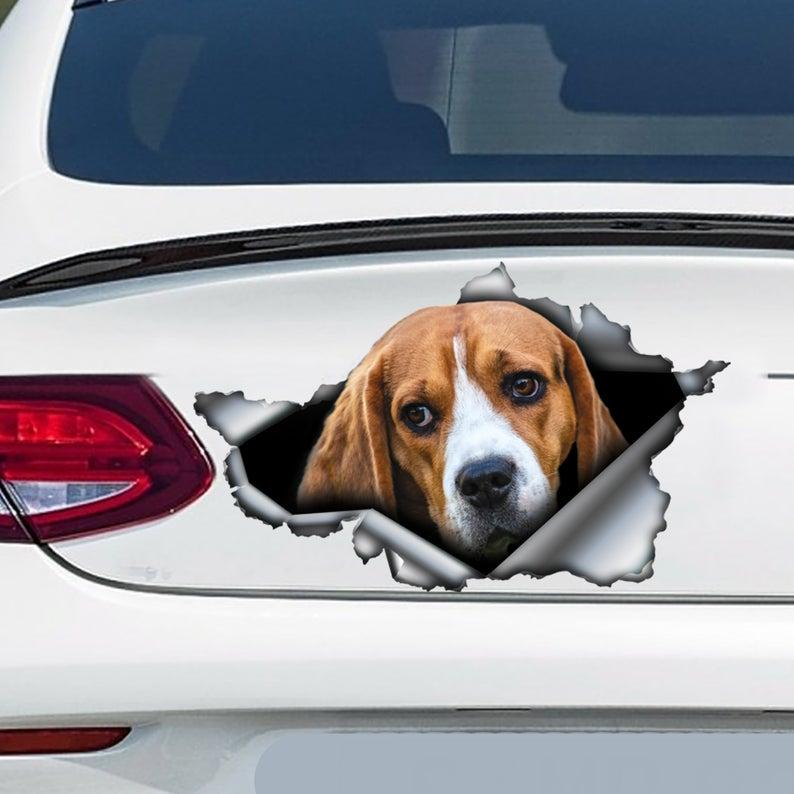2021 бигль автомобильная наклейка, бигль магнит, бигль наклейка, украшение автомобиля
