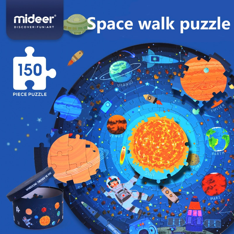 MIDEER MD3082 Wandering Through The Space 150 Pieces Puzzle Jigsaw Game Premium Gift Children Educational Toy PUZZLE FOR KIDS недорого
