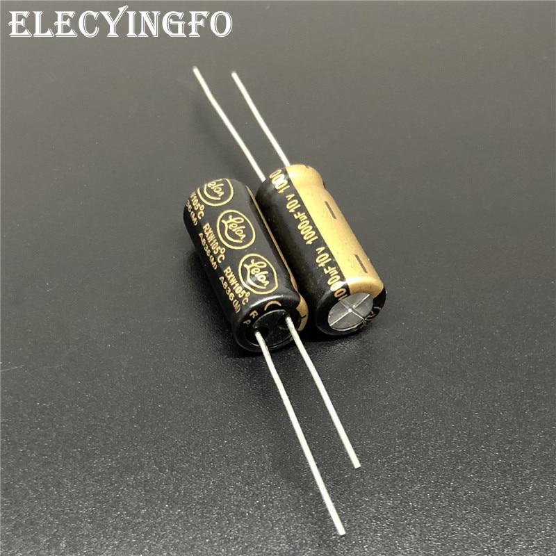 10 шт./50 шт./100 шт. 1000 мкФ 10v1000мкф LELON RXW серия 8x20 мм 10v1000мкф низкий ESR долговечный Алюминиевый электролитический конденсатор