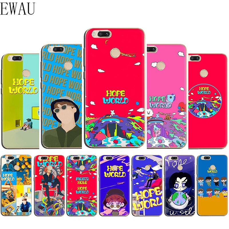 EWAU Espero Mundo Silicone caixa do telefone para Xiaomi 6 8 9 Mattle SE A1 A2 Lite Mix 2S Max 3 F1 A3 9T Pro CC9e 9 Pró Nota 10