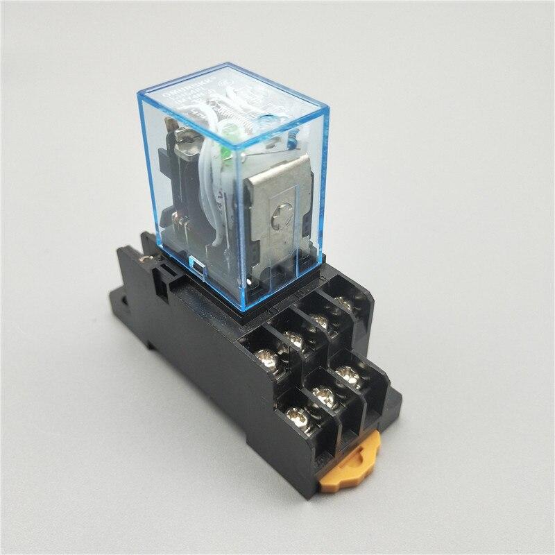 1 шт. MY4NJ электронное Микро Мини электромагнитное реле 5A 14PIN катушка 4DPDT с PYF14A цоколь DC12V 24V AC110V 220V светодиодный