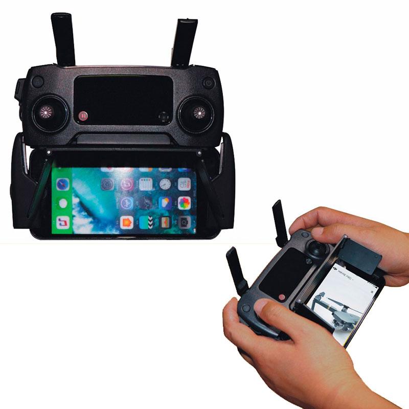 Adjustable Sun Hood Shade Folding Sunshade for DJI Mavic Mini Pro Air Spark Mavic 2 Zoom Drone 4.7-5.5 Phone Cover Accessory