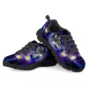 HYCOOL Starry Sky Print Kids Sneakers for Kids 2020 Wolf Eagle Trendy Children Casual School Shoes Flat Girls Boys Winter