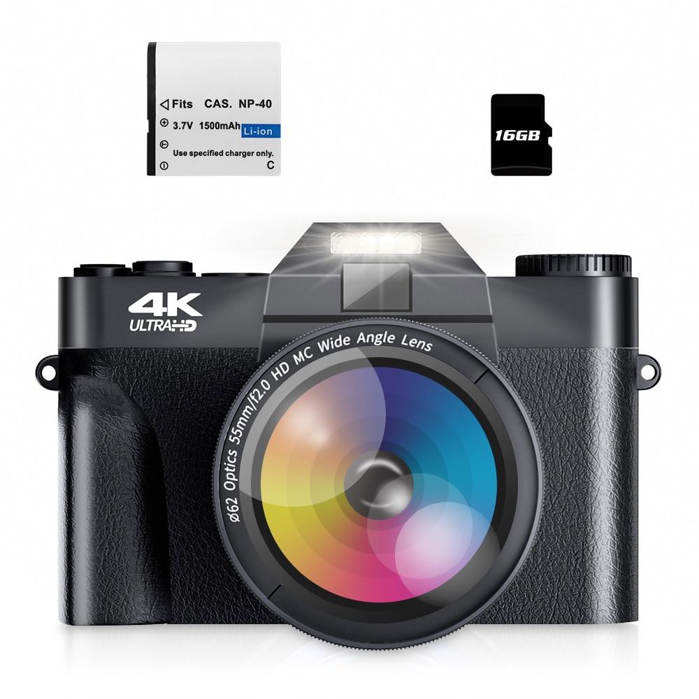 Digital Camera Vlogging Camera for YouTube 16X Digital Zoom 48MP Photography  Portable Handheld Came