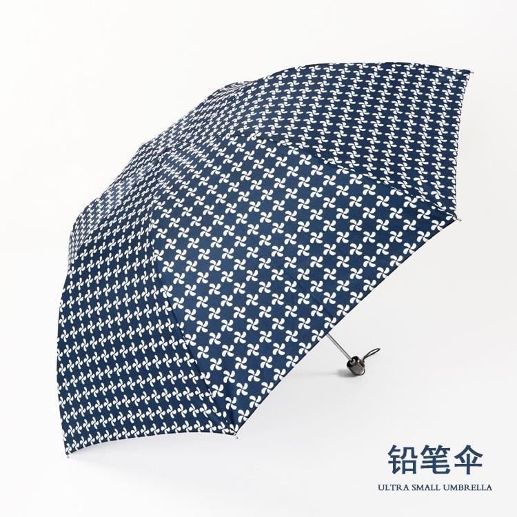 Paraguas de lápiz creativo Yu Bao Corea del Sur paraguas de lunares de 7 huesos para mujer Parasol fresco de doble propósito Ultra-fino ultraligero