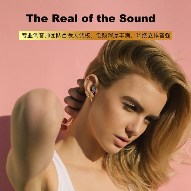 Wireless Earbuds, 5.0 Bluetooth True Wireless Stereo Bass Earbuds Bluetooth Earphone Water Proof Wireless Headset with Mic enlarge