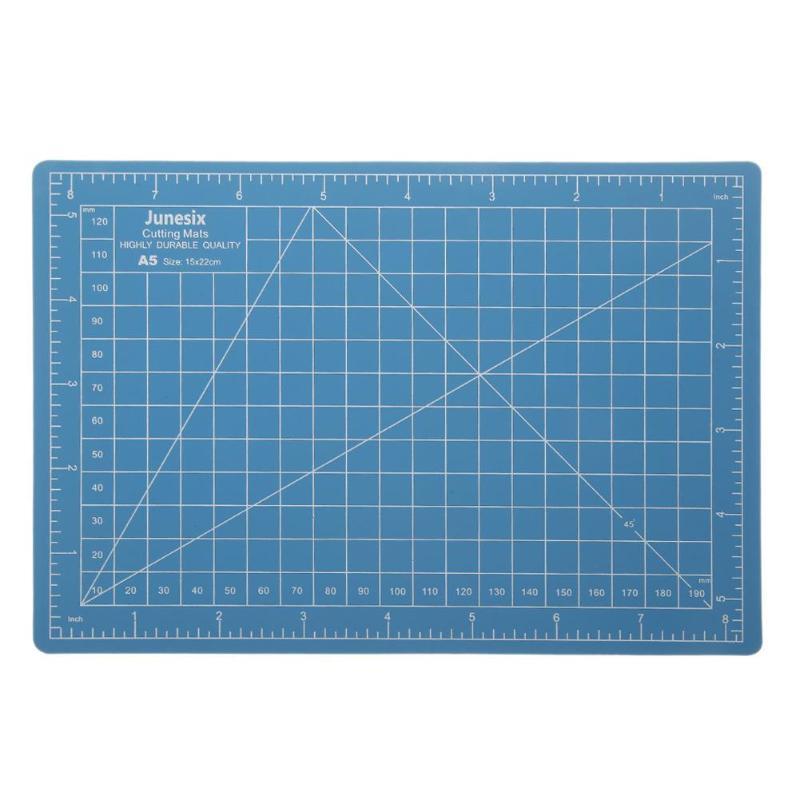 Tapete de corte de PVC A5, almohadilla cortada de retales, herramientas de retales A5, herramienta Manual de bricolaje, tabla de corte de doble cara autocurativa