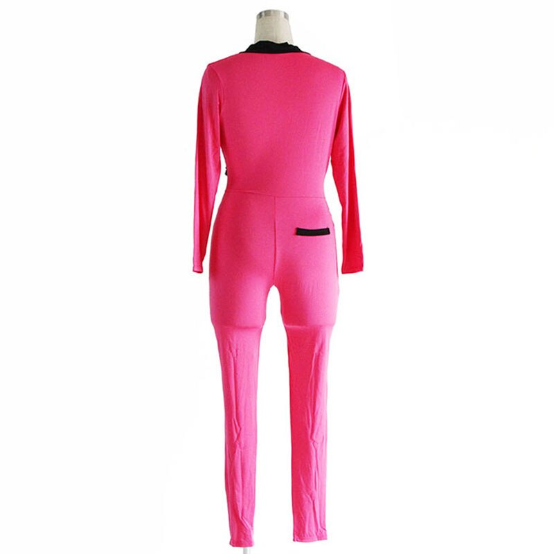 New Fashion Long Sleeve Buttons Cotton Sexy Celebrity Bandage jumpsuit for Women Club Skinny Bodycon Jumpsuit Rompers Playsuits