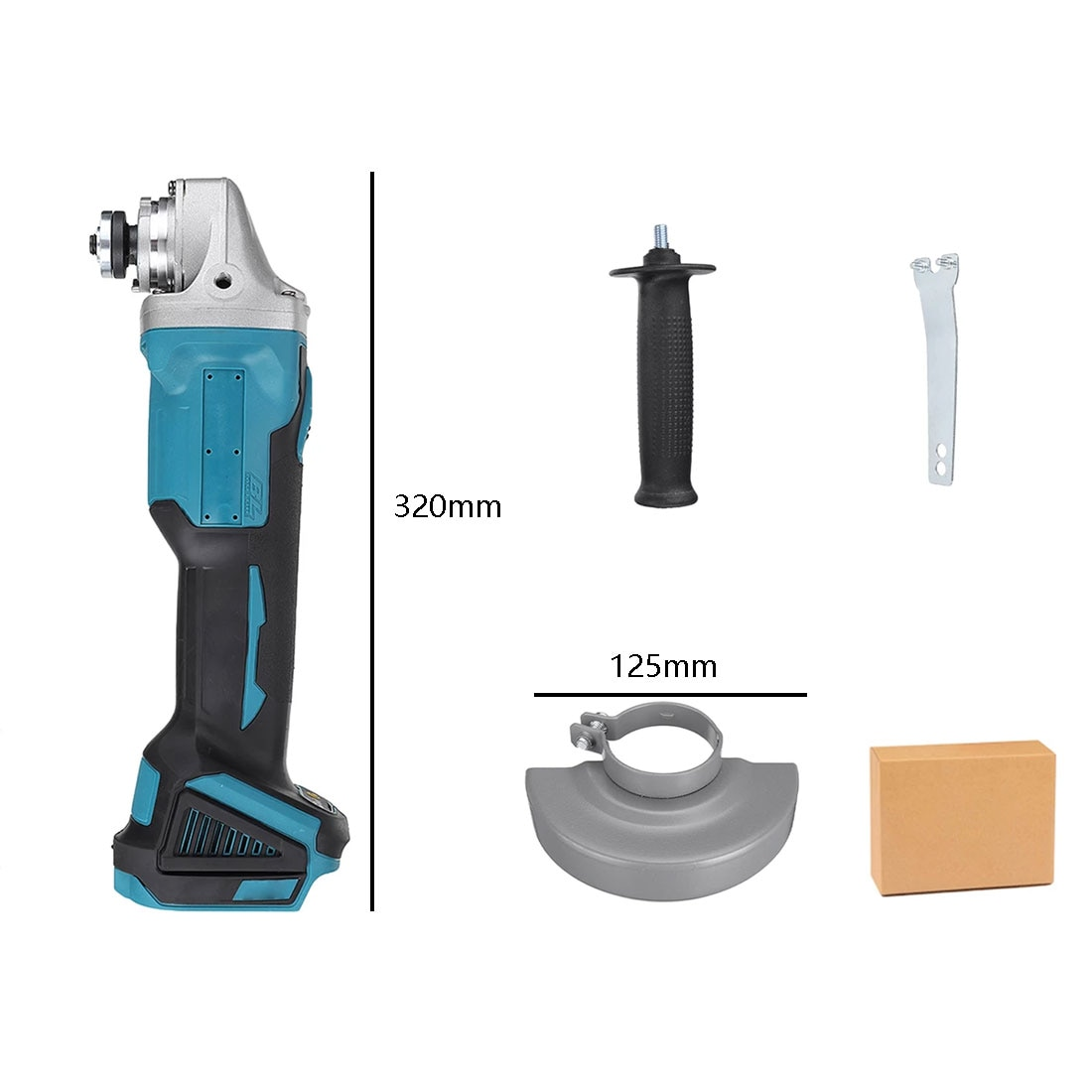 125Mm 4-Speed Brushless Grinder Cordless  DIY Woodworking Power Tool For 18V Makita Battery  Electric Angle Grinder