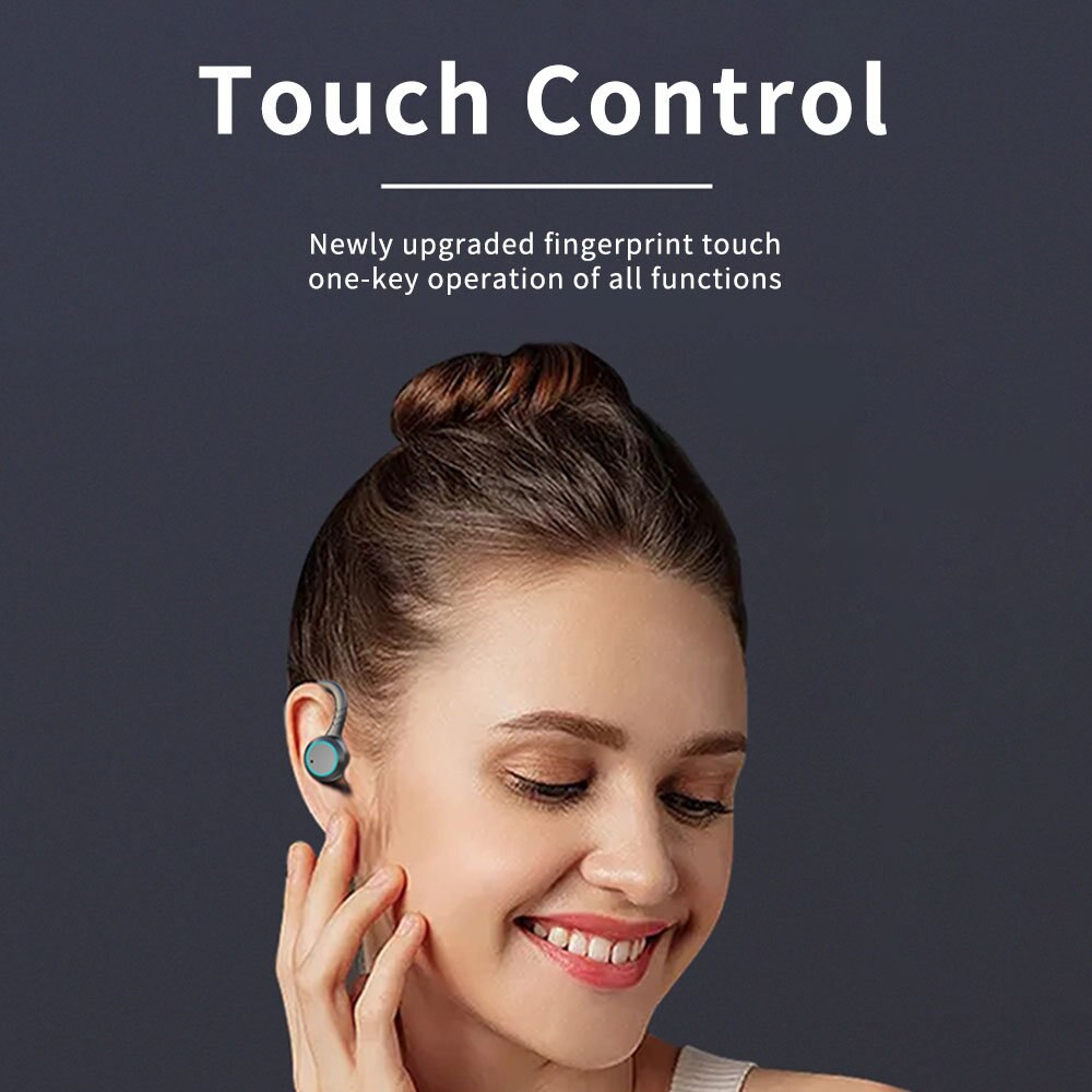 IPX7 Waterproof Wireless Sports Earphones Bluetooth 5.0 Touch Control Host Switch On-ear Headphones Professional Water-resistanc enlarge