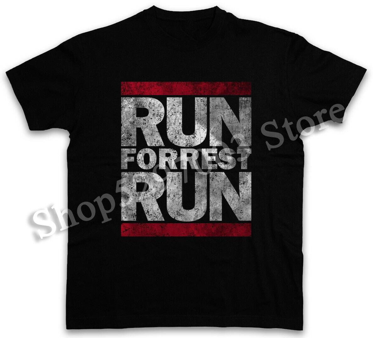 Camiseta de running Forrest Run, camiseta divertida Dmc Run Forrest Gump Run cita de película Harajuku divertida camiseta