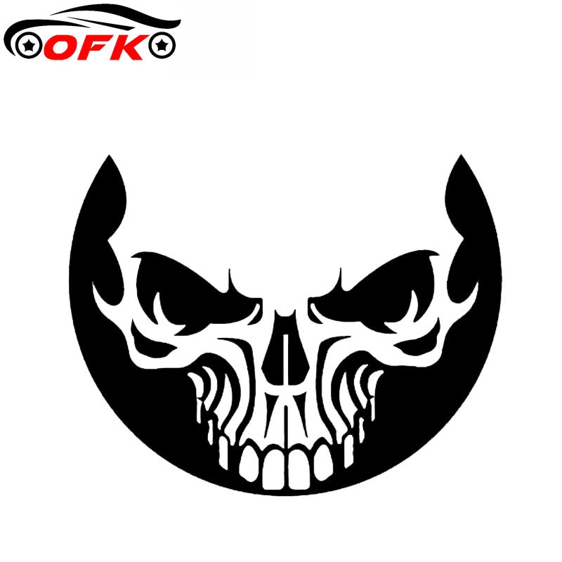 Weird Smile Skull Sticker High Quality Car Window Decoration Personality Pvc Waterproof Decal. 15cm*12cm