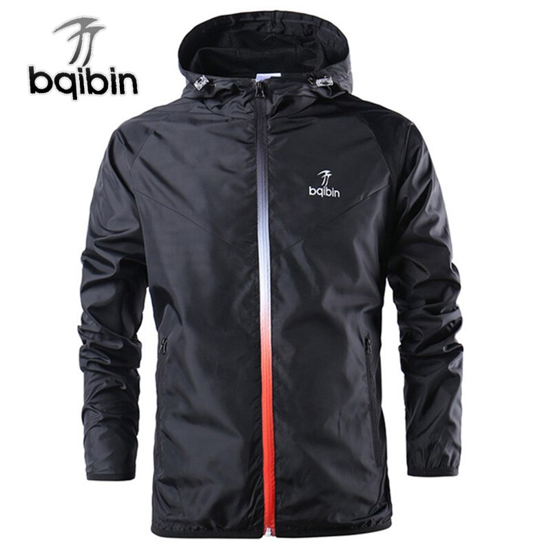 2021 New Spring Summer Mens Fashion Outerwear Windbreaker Men' S Thin Jackets Hooded Casual Sporting