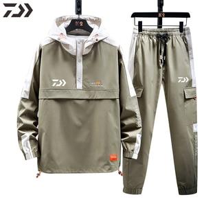 Daiwa New Men Patchwork Cycling Fishing Clothes Spring Autumn Pants Fishing Hoodie Sportswear Shimanos Fishing Clothing Outdoor