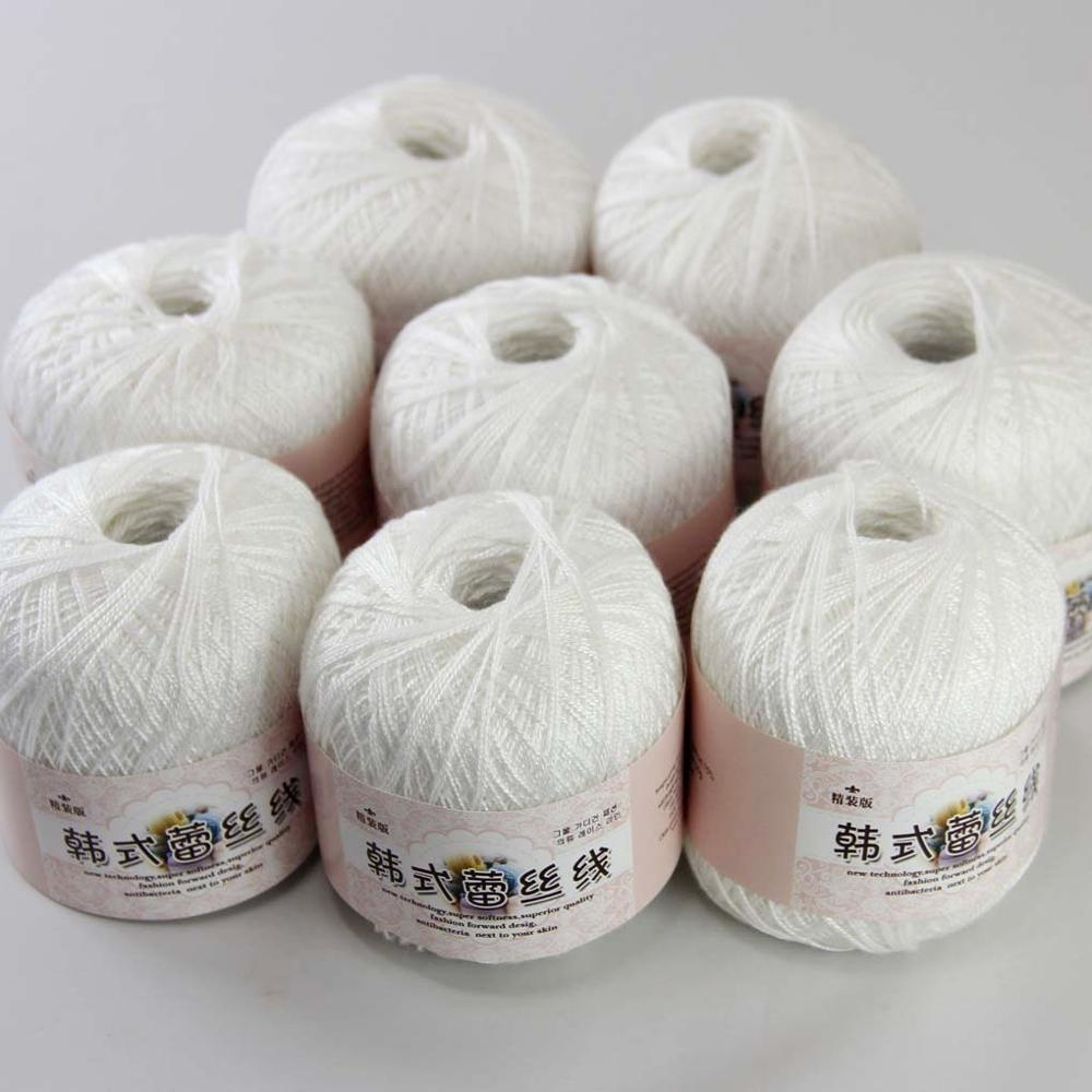 Free shipping  8Balls X50g  New Soft Hand Knitting  High quality soft 100% Cotton Crocheted Yarn F1