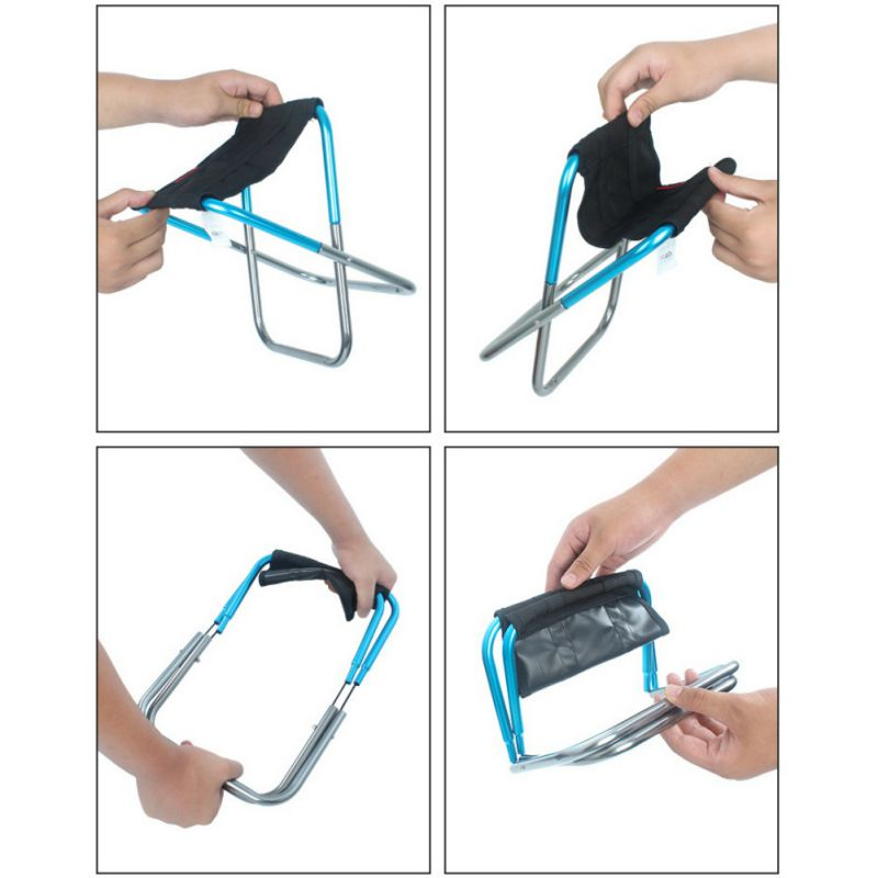 Outdoor Camping Chair Oxford Cloth Portable Folding Camping Chair Seat for Fishing Festival Picnic BBQ Beach Stool With Bag enlarge