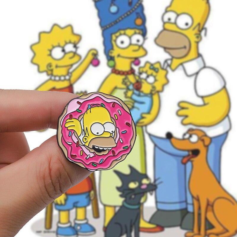 Simpsonowie cartoon broszka, pączek pin, dekoracja plecaka odznaka