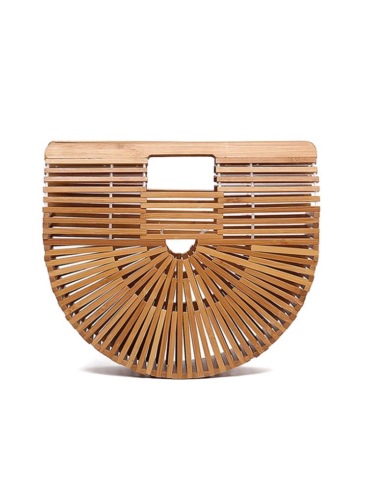 Verano 2019 nuevo tipo de bolso de playa de gran capacidad de aire Baitao para mujer de tejer de Bambú