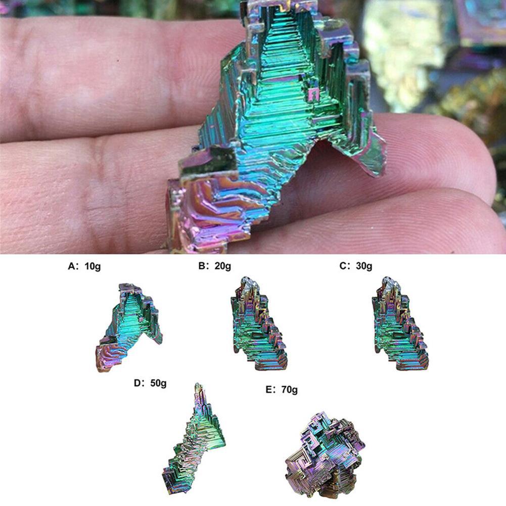 Titanio Arco Iris espécimen de bismuto Mineral piedra preciosa cristal cuarzo piedra de decoración Natural acuario decoración grava decoraciones