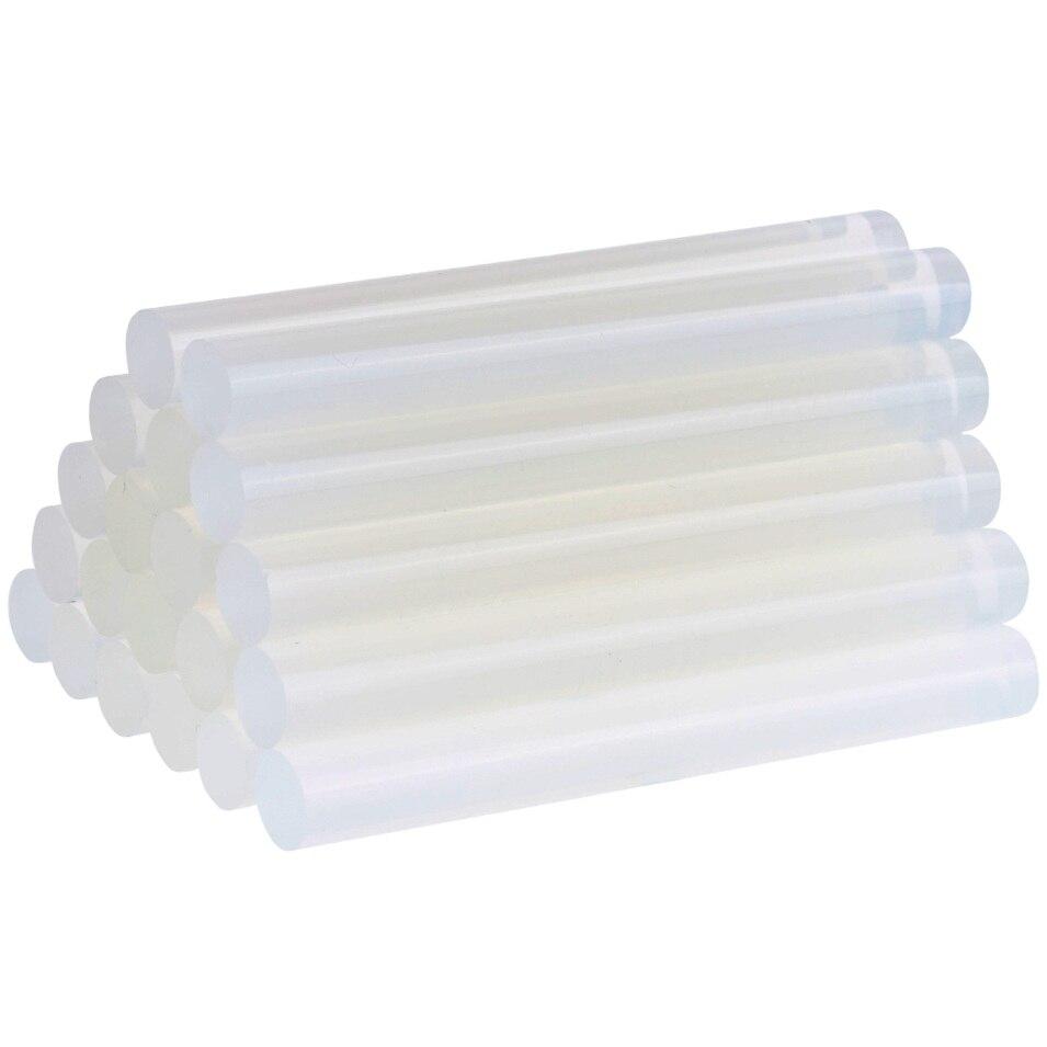 New 30Pcs/Sets 7mm x 100mm Hot Melt Gun Glue Sticks Plastic Transparent Sticks for Glue Gun Home Power Tool Accessories