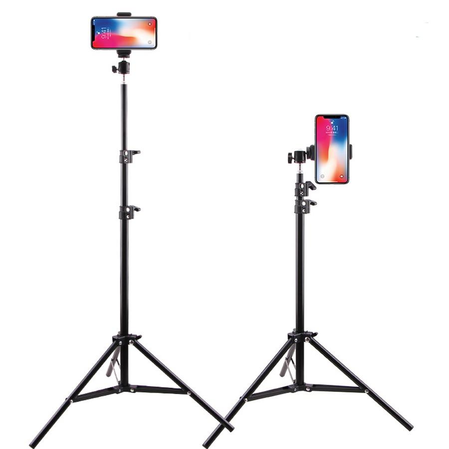 2021 NEW Live Photo Blogger Foldable Tripod For iphone Xiaomi Huawei Mobile Phone Tripod For Phone 19 50 160 210CM Camera