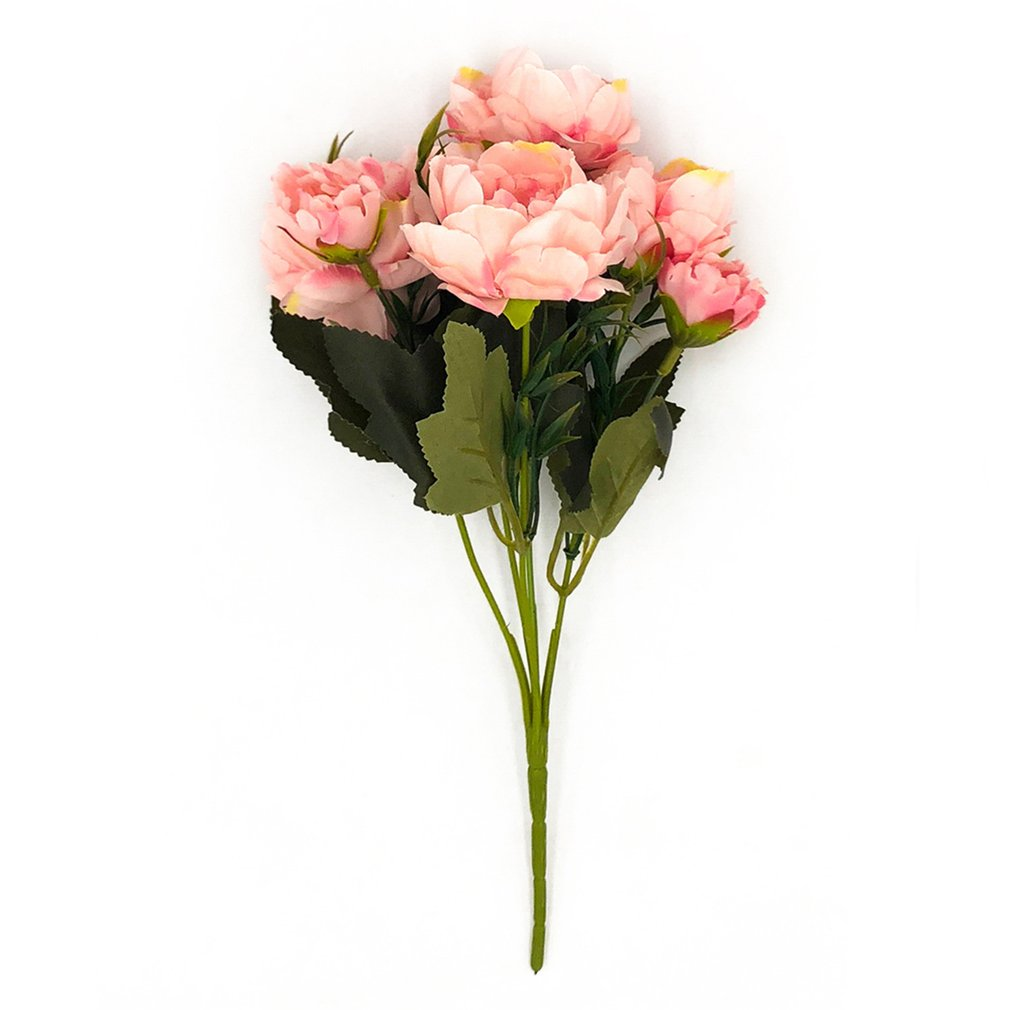 5 cabeças decoração para casa acessórios de plantas flores artificiais casamento handheld escritório decoração