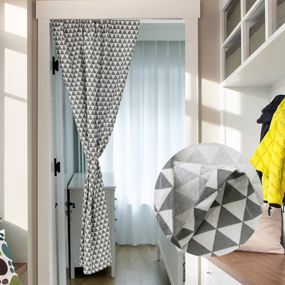 Cortinas opacas de lino de algodón para puerta cortinas japonesas para cocina sala de estar aislamiento térmico privacidad cortinas de decoración cortinas para puerta