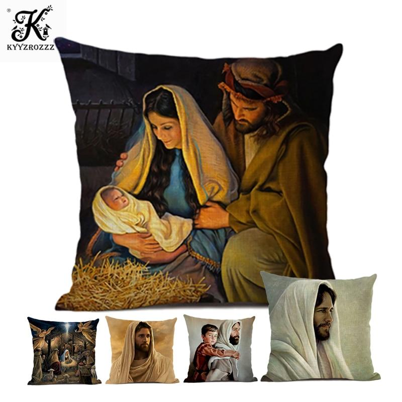 Наволочка 45x45 см диван украшение для дома подарок Подушка религиозная Подвеска
