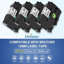 Ruban détiquettes Unistar Compatible pour Brother TZe-231 TZe-131 pour ruban détiquettes p-touch pour P Touch D210 H110 D600 D400AD 1230PC