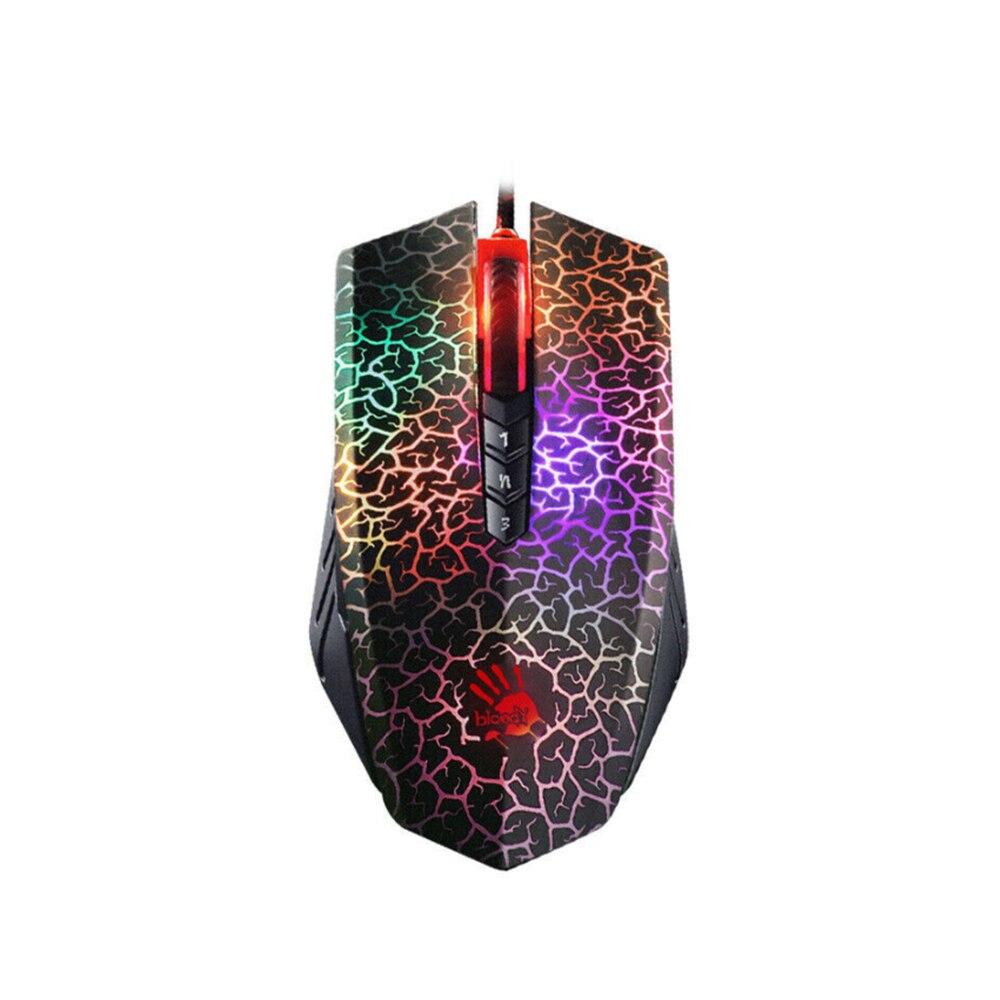 للدموي A70 4000 ديسيبل متوحد الخواص USB ماوس الألعاب البصرية الملونة وهج السلكية الفئران