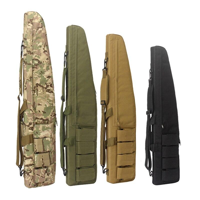 70cm 95cm 120cm bolsa de pistola táctica Airsoft Rifle de caza mochila con correa de hombro militar al aire libre Shotgun almacenamiento caso engranaje