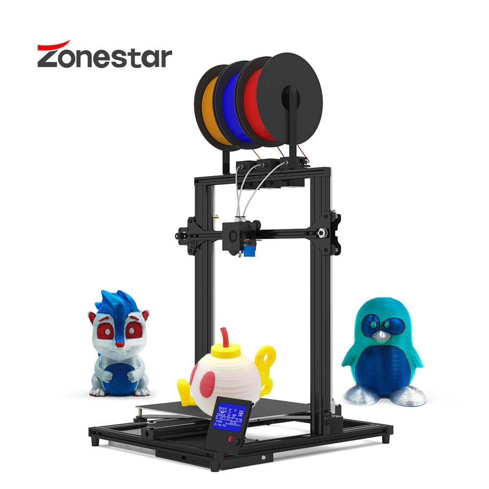 ZONESTAR Z8T 3 اللون حجم كبير 3 بثق 3-في-1 خلط اللون عالية الدقة الدقة سهلة تثبيت 3D طابعة كيت