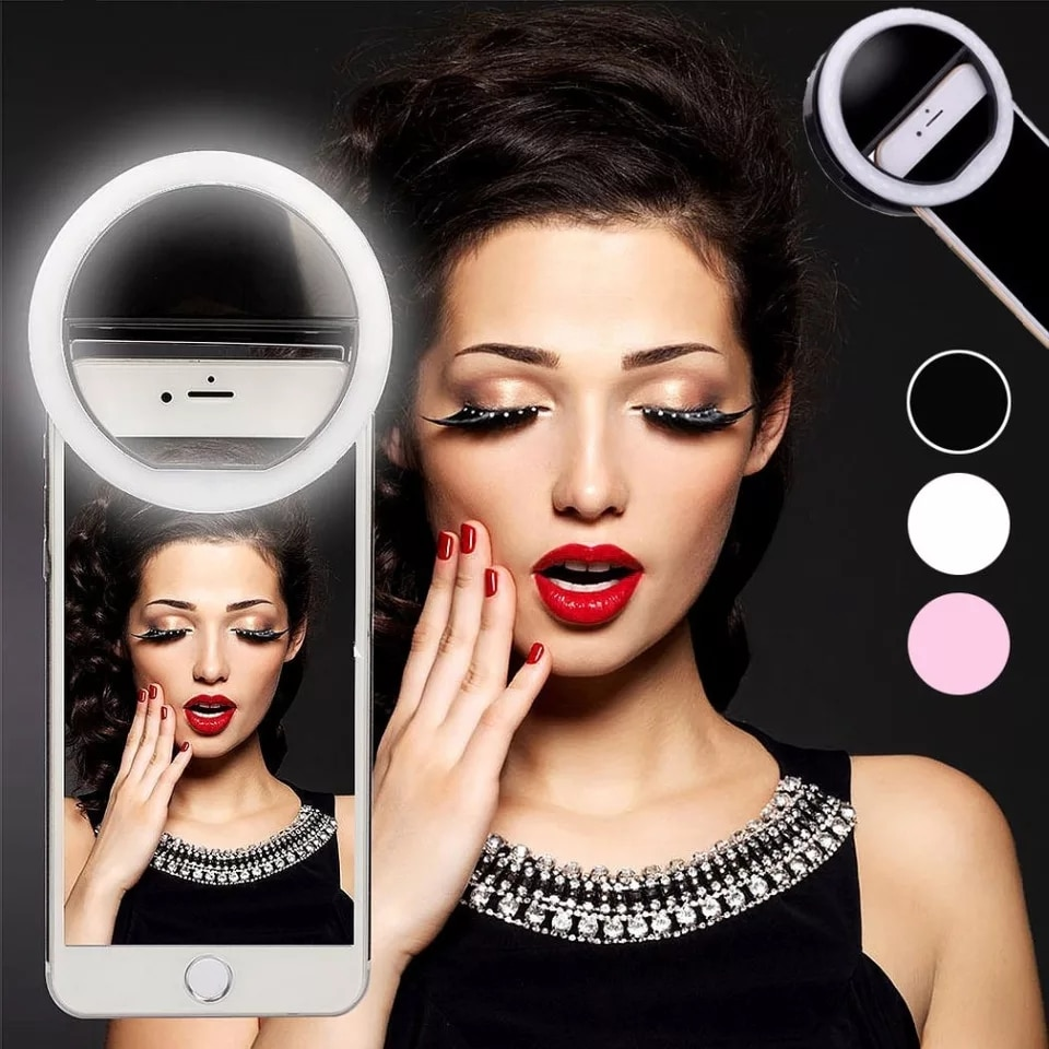 New Selfie Ring Mobile Phone Clip Lens Light Lamp Litwod Led Bulbs Emergency Dry Battery For Photo Camera Well Smartphone Beauty