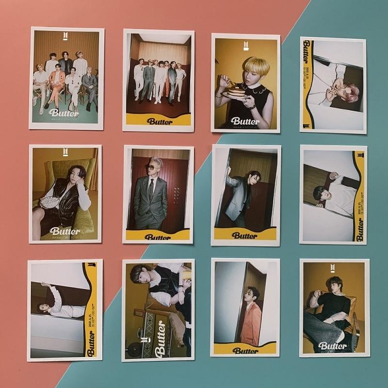 kpopiu regular fifth album lilac peripheral random small card postcard lomo card uaena album card lee ji eun on sale KPOP Bangtan Boys New Album Butter Peripheral Small Card LOMO Card Postcard Random Card Polaroid