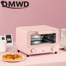 Dmwd mini forno 13l forno elétrico do agregado familiar máquina de cozimento pão tempo inteligente cozimento casa vida cozinha pão torradeira ue eua