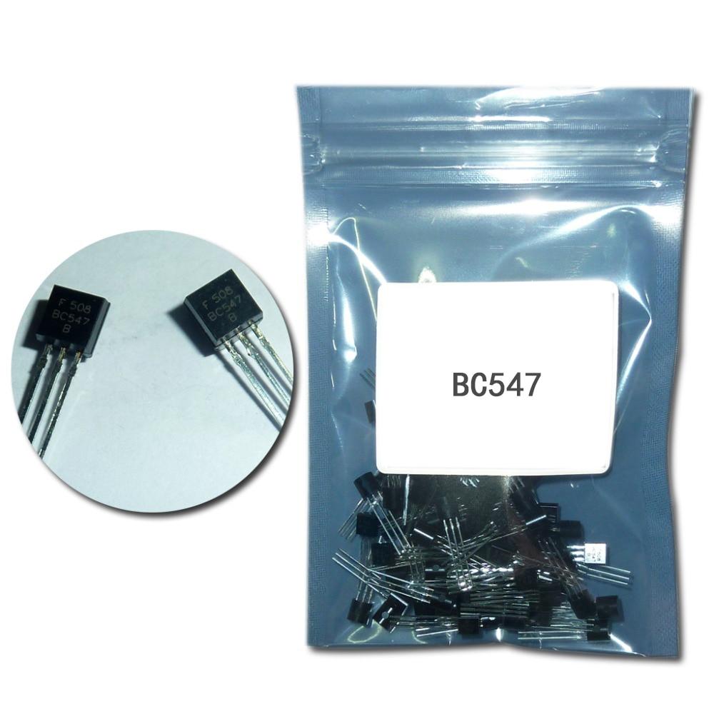 100pcs/Lot Transistor DIP BC547 TO-92 0.1A 45V NPN BC 547  Transistors chip dc 45v
