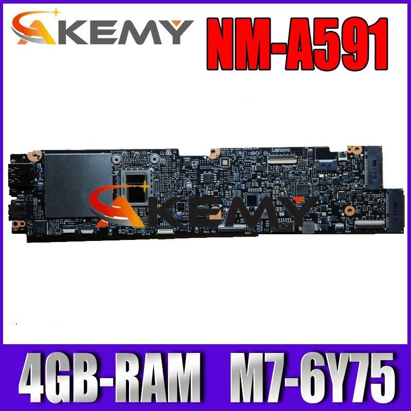 NM-A591 اللوحة الأم للكمبيوتر المحمول لينوفو اليوغا 900S-12ISK اللوحة الرئيسية الأصلية 4GB-RAM M7-6Y75